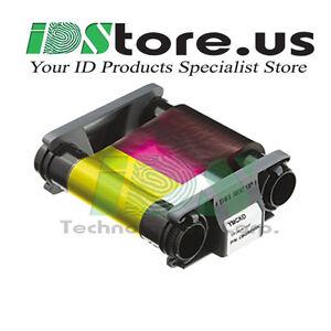 Genuine-Evolis-Badgy200-CBGR0100C-YMCKO-Color-Ribbon-100-Prints