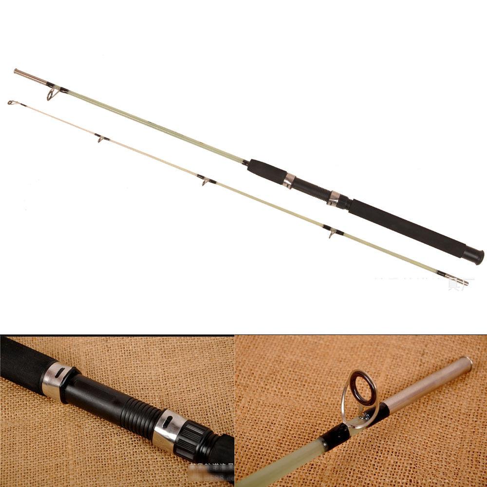 Super retractable solid clear rod fiberglass casting for Casting fishing rod