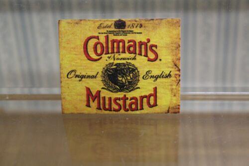 letrero de metal para tienda de comida = colmam/'S Mostaza Casa De Muñecas