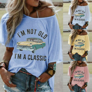 Women-039-s-Round-Neck-Short-Sleeve-Letter-Printed-Blouse-Casual-Loose-T-Shirt-Tops