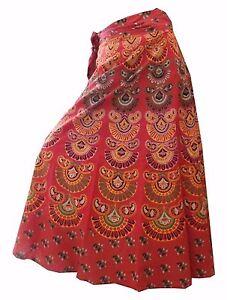 Indian-Women-Ethnic-Animal-Print-Rapron-Printed-Cotton-Long-Skirt-Wrap-Around-S3