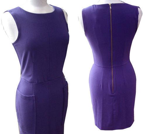 Gorgeous Purple Audrey Hepburn Style Shift Dress