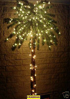BEACH PARADISE OUTDOOR  7' 300 LIGHTED TROPICAL PALM TREE 7 FOOT (JIMMY BUFFETT)