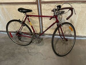 1976 Red Schwinn Varsity Men's Ten Speed Bicycle Survivor Original Bike Vintagei