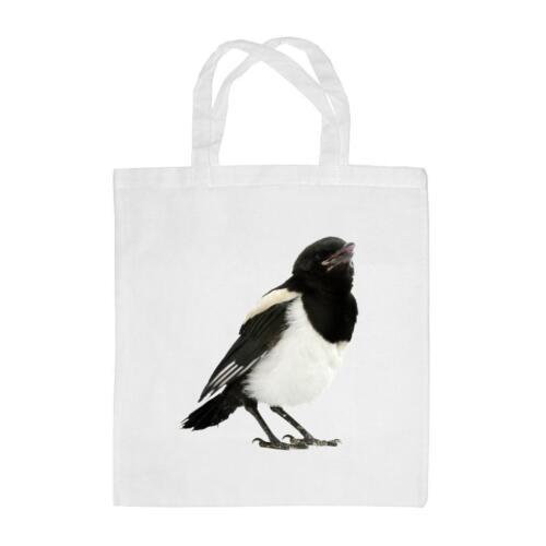 Magpie Image Reusable Shopping Bag 38 x 42cm Wild Bird
