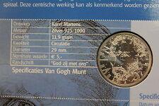 5 EURO FDC IN ARGENTO EMESSI DALL' OLANDA NEL 2003 VINCENT VAN GOGH