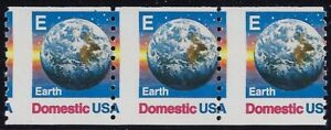 "2279 Misperf Error / EFO Strip of 3 ""Earth"" Mint NH"