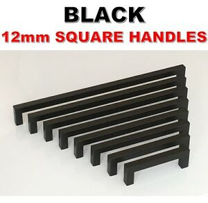 Black Stainless Steel Kitchen Cabinet Door Drawer Handles