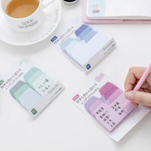 60Pcs-Solid-Color-Cute-Sticky-Notes-Notebook-Memo-Pad-Bookmark-Paper-Sticker