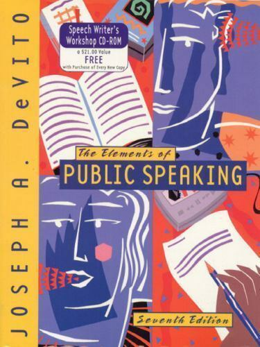 Elements of Public Speaking by Joseph A. DeVito (1999 ...