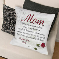 Personalized Mom Couch Pillow Mother Rose Poem Throw Pillow Mother's Day Gift