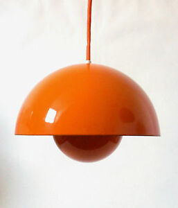 60s louis poulsen flowerpot lampe verner panton 1 of 3 pendant lamp annees 60 ebay. Black Bedroom Furniture Sets. Home Design Ideas