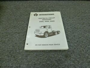 1996 international 2554 2574 2654 2674 truck electrical wiring diagrams  manual   ebay  ebay