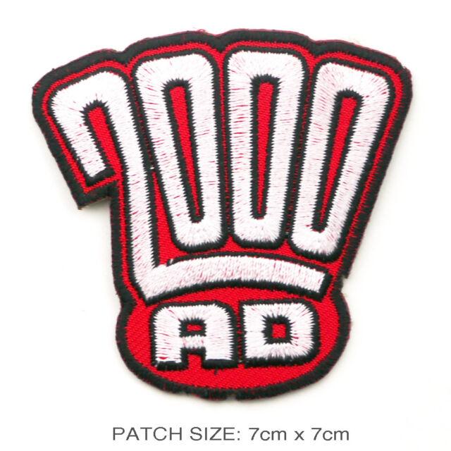 2000AD - Classic Comicbook Logo Patch: Dredd, Slaine...