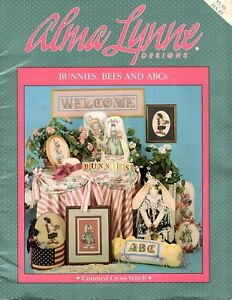 Alma-Lynne-Designs-Bunnies-Bees-and-ABC-039-s-Vintage-Counted-Cross-Stitch-Pattern