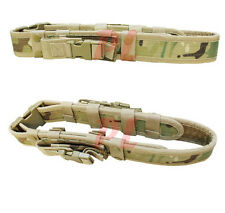 Molle Tactical Belt Combat Police SWAT Pistol Mag Pouch Utility Belt-MULTICAM