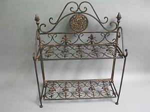 metall regal badregal 49cm x 41cm x 17cm tief kleines regal schuhregal ebay. Black Bedroom Furniture Sets. Home Design Ideas