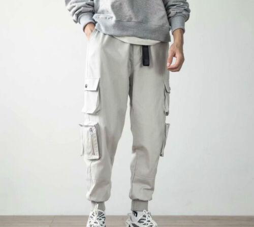 Men Harem Cargo Pants Tapered Multi Pocket 3//4 Trousers Vintage Hippie Casual