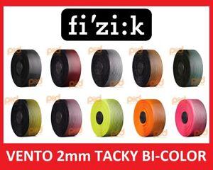 Fizik-Superlight-Vento-Handle-Bar-Tape-2mm-TACKY-Bi-Color-Black-Red-White-Yellow