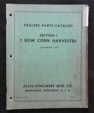 1958 Allis Chalmers C D Wd Tractor 1 Row Corn Picker Harvester Parts Manual