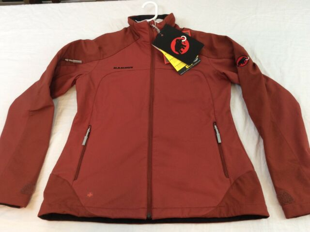 huge discount superior materials sneakers for cheap Mammut Womens Large Rust Orange Nimba Softech Waterproof Jacket NWT