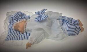 Automate-a-clef-poupee-poupon-bebe-dormeur-en-Porcelaine-boite-musicale