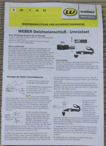 WEBER Deichselanschluss mit Schloss für Vierkant 23,5 mm D Kupplung UV.07.235.WI