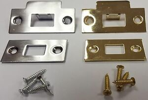 Exceptionnel Image Is Loading Door Latch Keep Strike Amp Face Plate Tubular
