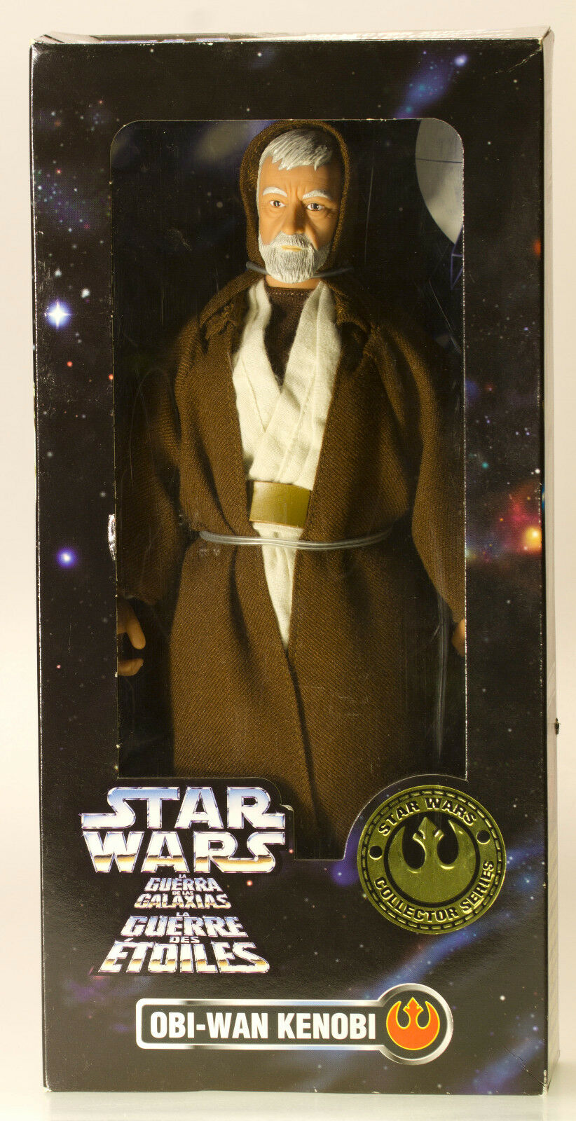 "MIB TRI-LOGO STAR WARS 12"" Obi Wan Kenobi Ben Collector Series Figure Doll 1996"