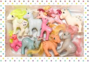 ❤️My Little Pony MLP G1 Vtg Custom Bait TLC Mixed Lot 10 Ponies Pegasus Baby❤️