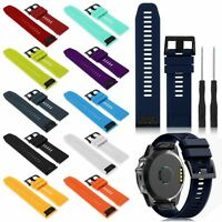 Silicone Rubber Band Strap Wristband For Garmin Fenix 5x/5 Gps Watch Us