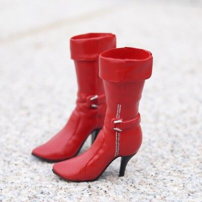 High-heeled Red Boots Shoes for 1//6 Scale Female 12/'/' Action Figure Toys
