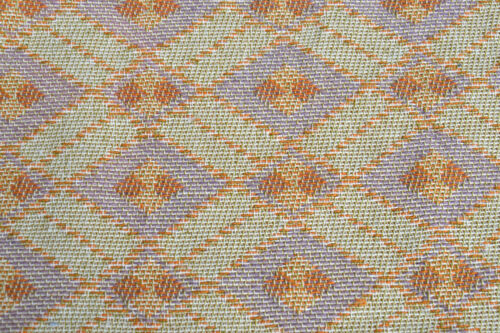 1970s Cotton Fabric Vintage Geometric Woven Upholstery multi colour Curtain