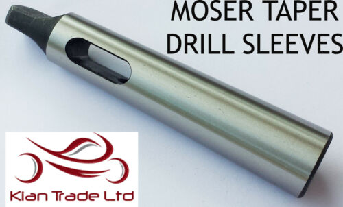 4-5 morse taper Drill sleeve adaptor fully hardened and ground 165 mm Long