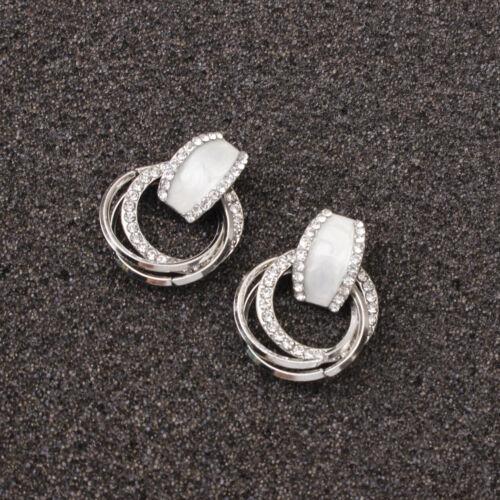 2020 Fashion Luxury Round Earrings Women Crystal Geometric Hoop Earrings Jewelry