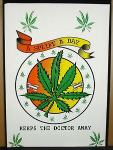 Poster-with-Spliff-Day-Keep-the-Doctor-Away-Marijuana-Cannabis-Wall