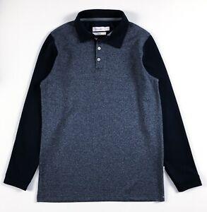 Calvin-Klein-Polo-Shirt-homme-Slim-Fit-a-manches-longues-chine-bleu-bleu-marine-polaire