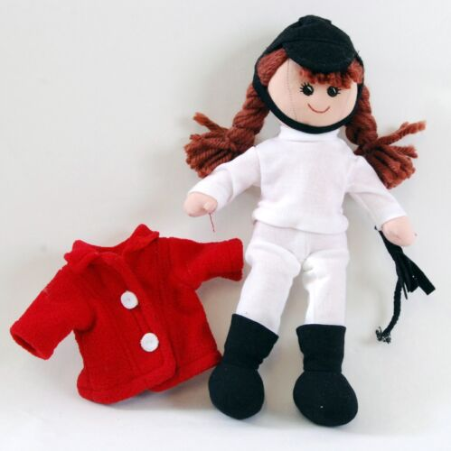 New dress up Equestrian horse riding doll 25cm tall Hat Whip Boot pant Coat