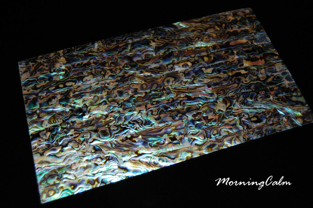 3 Sheets of Blau Paua Coated Veneer (MOP Shell Craft Luthier  Mother of Pearl )