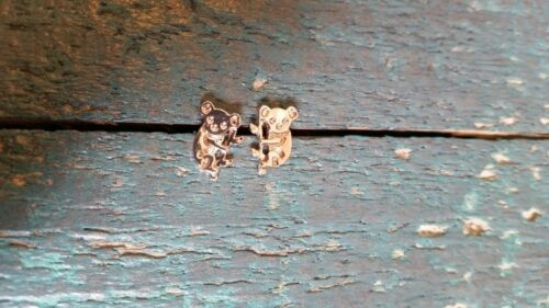 Ohrringe Koalabär Ohrstecker Rosegold Tier Schmuck Damen