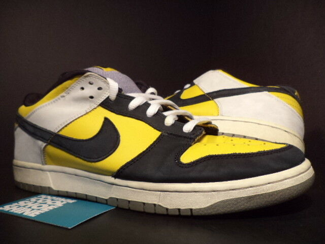 2006 Nike Dunk Low Pro SB BIC MAIZE YELLOW WHITE BLACK GREY 304292-701 Sz 12