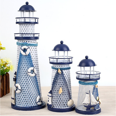 DIY Light Changing Handcraft Mediterranean Nautical Beacon Designed Decoration
