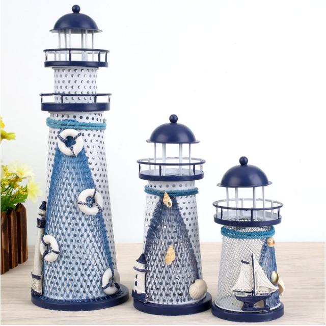 DIY Light Changing Handcraft Mediterranean Nautical Beacon Designed Decoration