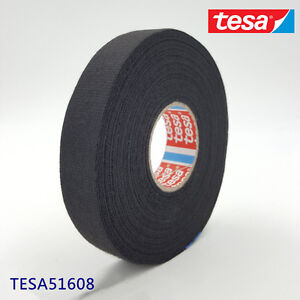 tesa 51608 19mm x 25m adhesive cloth fabric tape cable looms image is loading tesa 51608 19mm x 25m adhesive cloth fabric
