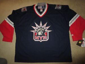 New-York-Rangers-NYR-CCM-Hockey-Statue-of-Liberty-NHL-Jersey-54-2XL-NEW