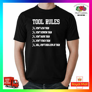 e5fe9cd22d Tool Rules T-shirt Tee TShirt Mechanic Engineer Tuner Builder Funny ...