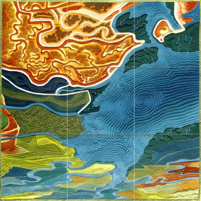 Art Mural Ceramic Backsplash Bath Tile #720