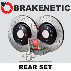 REAR BPK90861 w//AKEBONO PREMIUM GT SLOT Brake Rotors+POSI QUIET Ceramic Pads