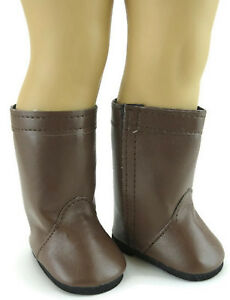 Brown-High-Riding-Boots-Shoes-made-for-18-034-American-Girl-Doll-Clothes