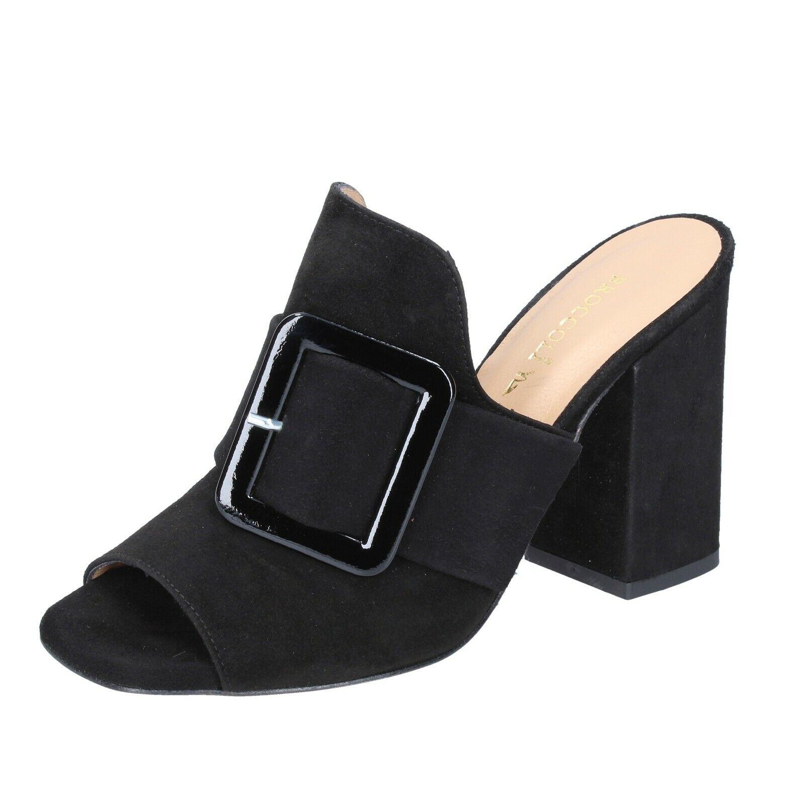 Damen schuhe BROCCOLI 36 EU sandalen schwarz wildleder BP304-36